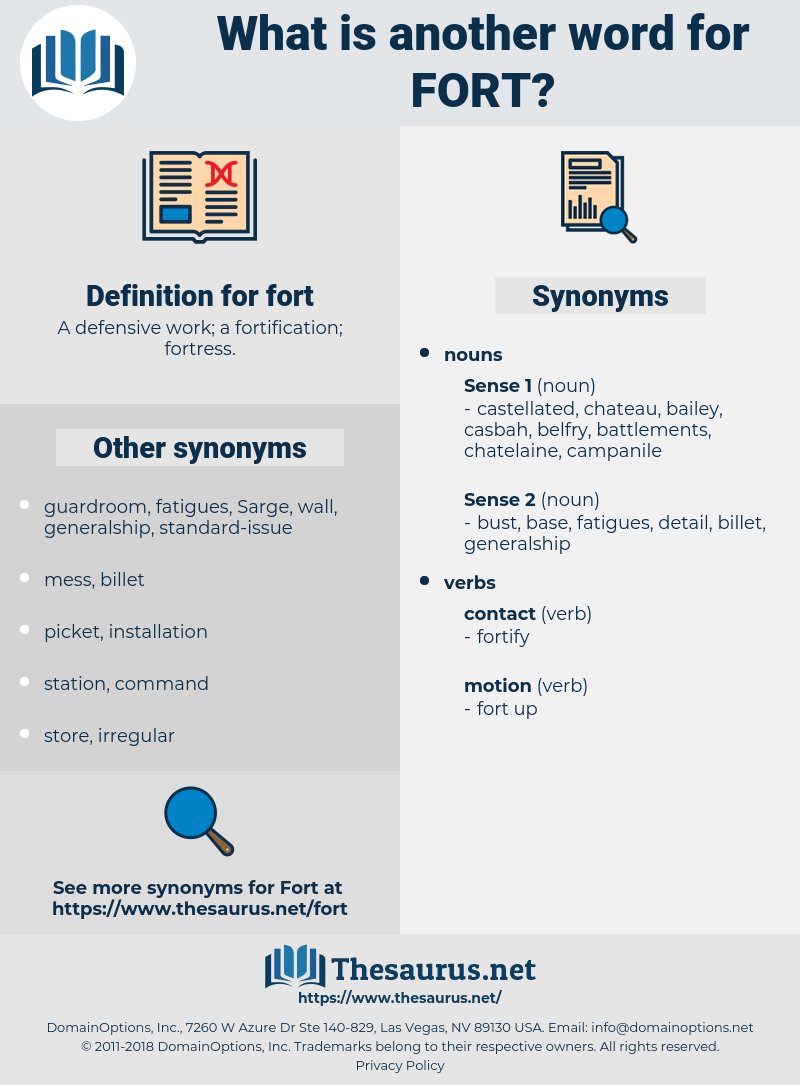 fort, synonym fort, another word for fort, words like fort, thesaurus fort