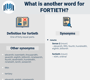 fortieth, synonym fortieth, another word for fortieth, words like fortieth, thesaurus fortieth