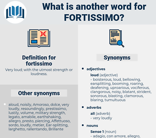 fortissimo, synonym fortissimo, another word for fortissimo, words like fortissimo, thesaurus fortissimo