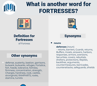 Fortresses, synonym Fortresses, another word for Fortresses, words like Fortresses, thesaurus Fortresses