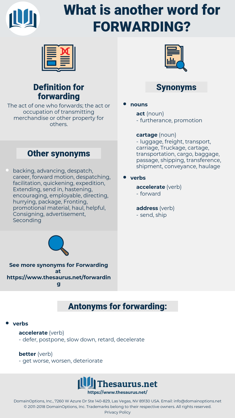 forwarding, synonym forwarding, another word for forwarding, words like forwarding, thesaurus forwarding