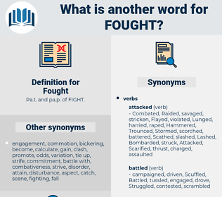 Fought, synonym Fought, another word for Fought, words like Fought, thesaurus Fought