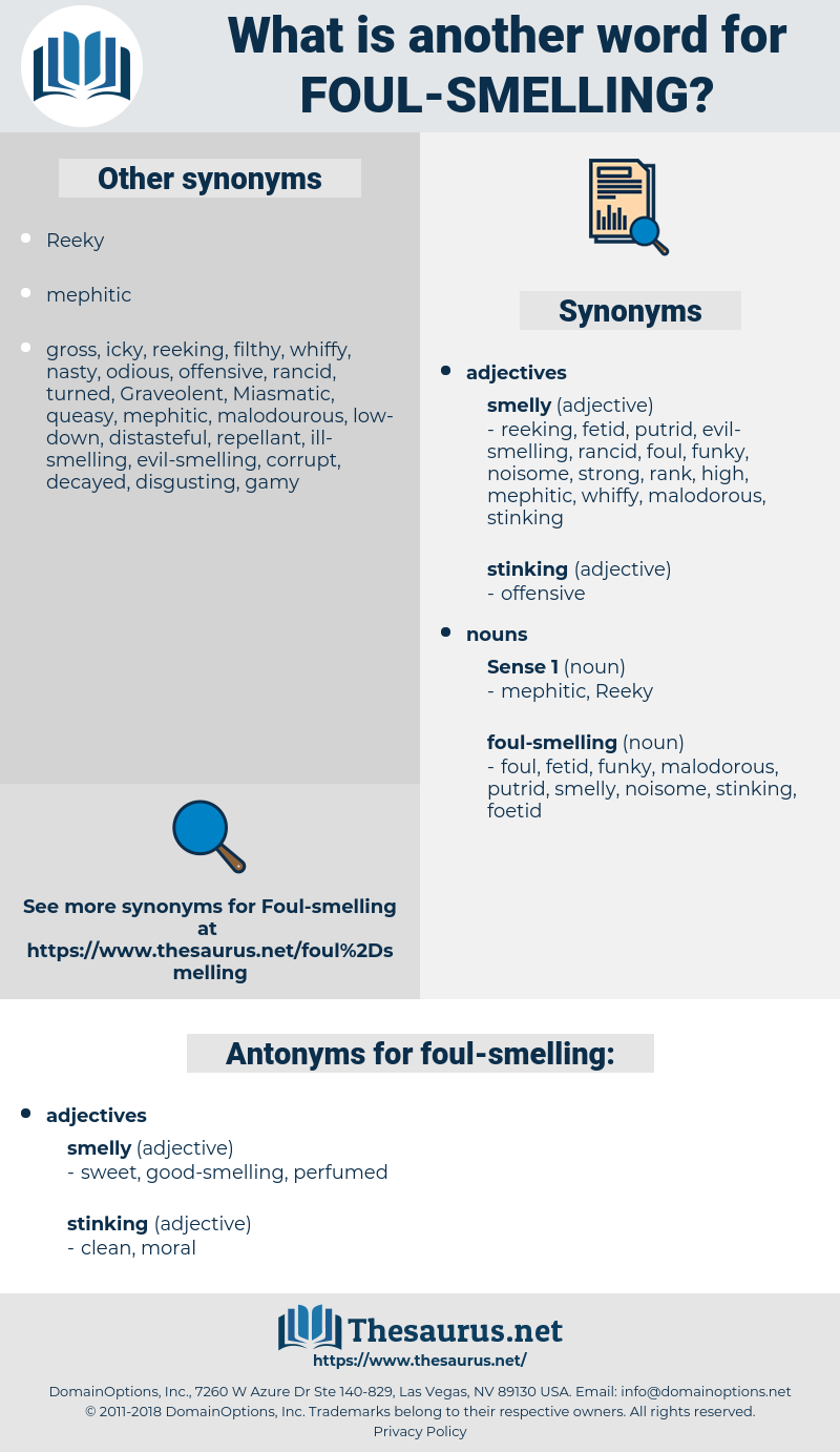 foul-smelling, synonym foul-smelling, another word for foul-smelling, words like foul-smelling, thesaurus foul-smelling