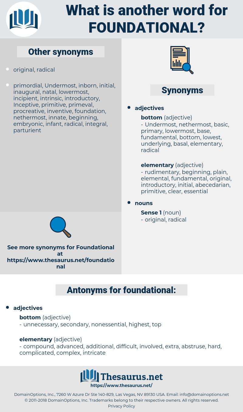 foundational, synonym foundational, another word for foundational, words like foundational, thesaurus foundational