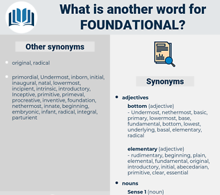 foundational, synonym foundational, another word for foundational, words like foundational, thesaurus foundational