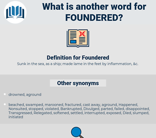 Foundered, synonym Foundered, another word for Foundered, words like Foundered, thesaurus Foundered