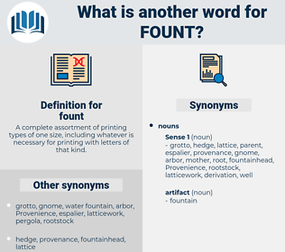 fount, synonym fount, another word for fount, words like fount, thesaurus fount