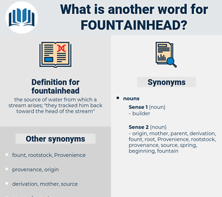 fountainhead, synonym fountainhead, another word for fountainhead, words like fountainhead, thesaurus fountainhead