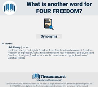 four freedom, synonym four freedom, another word for four freedom, words like four freedom, thesaurus four freedom