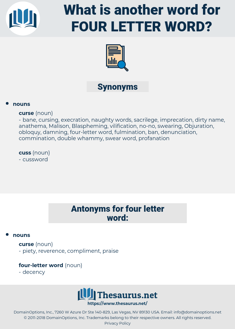 four-letter word, synonym four-letter word, another word for four-letter word, words like four-letter word, thesaurus four-letter word