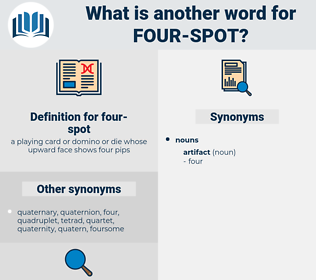 four-spot, synonym four-spot, another word for four-spot, words like four-spot, thesaurus four-spot