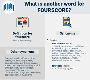 fourscore, synonym fourscore, another word for fourscore, words like fourscore, thesaurus fourscore