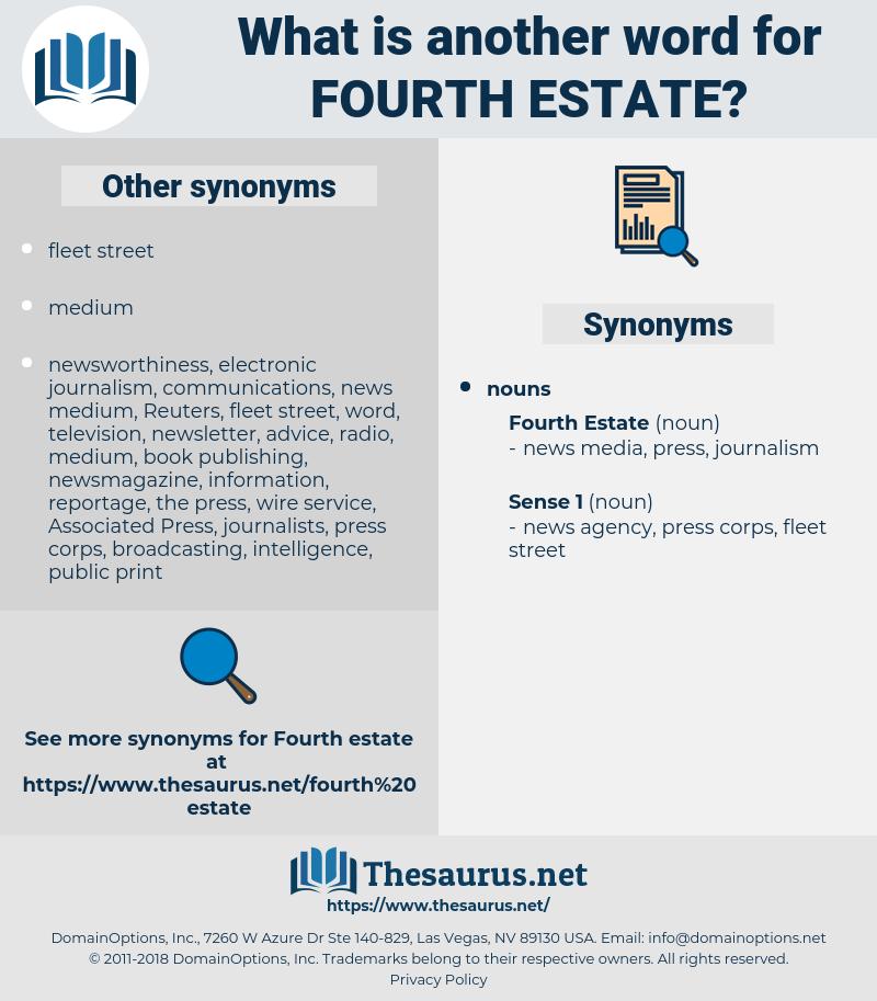 fourth estate, synonym fourth estate, another word for fourth estate, words like fourth estate, thesaurus fourth estate