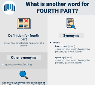 fourth part, synonym fourth part, another word for fourth part, words like fourth part, thesaurus fourth part