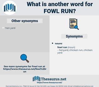 fowl run, synonym fowl run, another word for fowl run, words like fowl run, thesaurus fowl run