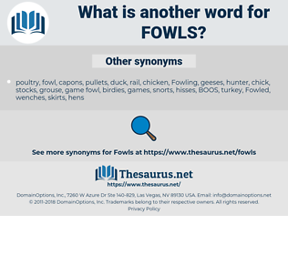 Fowls, synonym Fowls, another word for Fowls, words like Fowls, thesaurus Fowls