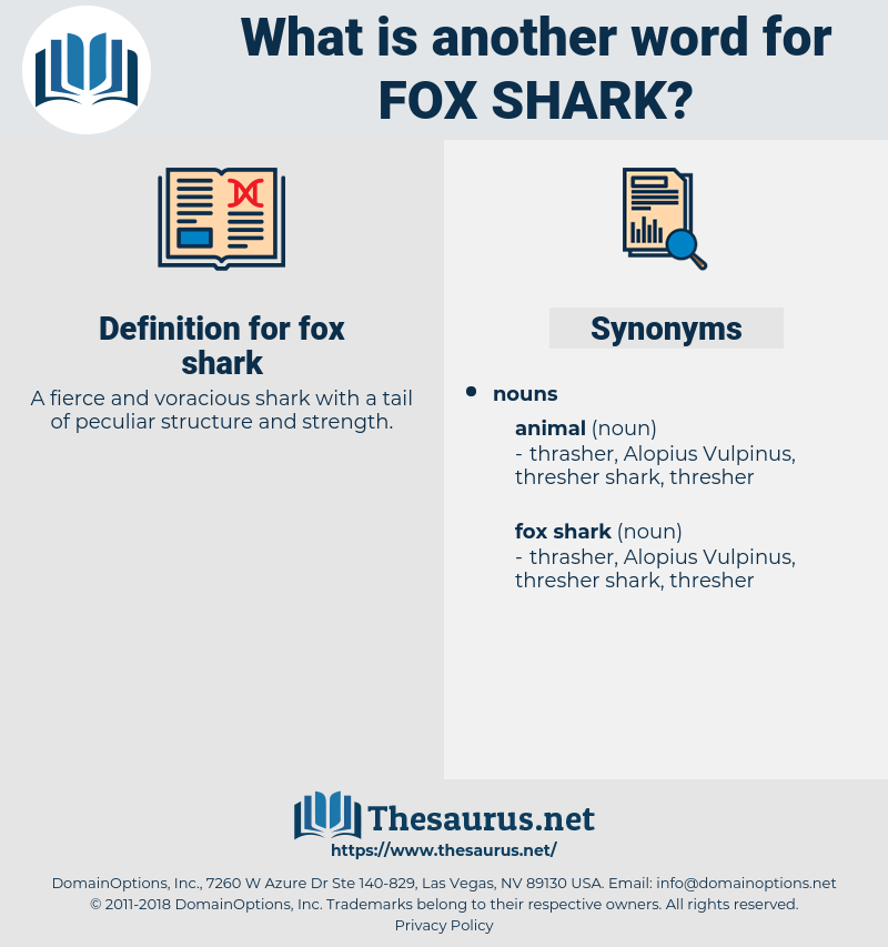 fox shark, synonym fox shark, another word for fox shark, words like fox shark, thesaurus fox shark