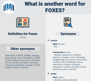 Foxes, synonym Foxes, another word for Foxes, words like Foxes, thesaurus Foxes