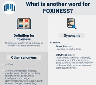foxiness, synonym foxiness, another word for foxiness, words like foxiness, thesaurus foxiness