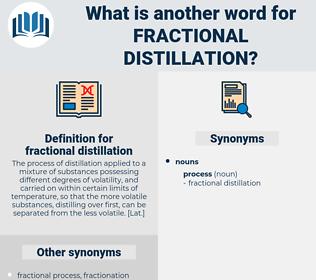 fractional distillation, synonym fractional distillation, another word for fractional distillation, words like fractional distillation, thesaurus fractional distillation