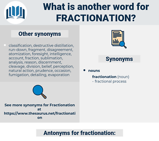 fractionation, synonym fractionation, another word for fractionation, words like fractionation, thesaurus fractionation