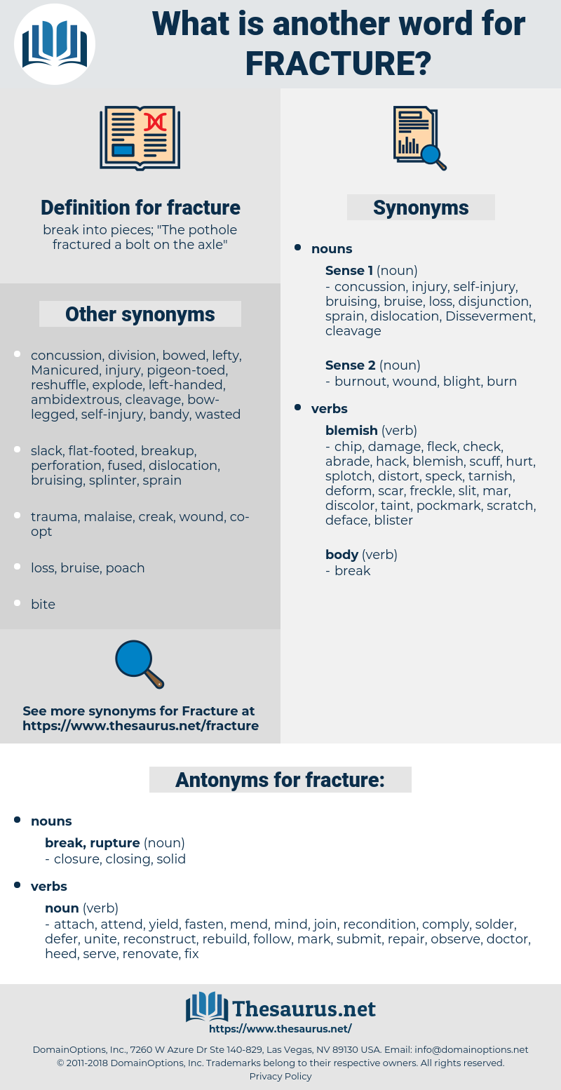 fracture, synonym fracture, another word for fracture, words like fracture, thesaurus fracture