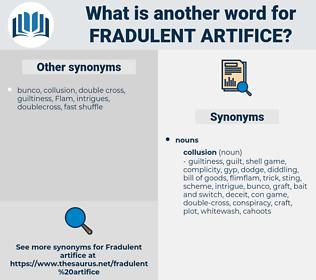 fradulent artifice, synonym fradulent artifice, another word for fradulent artifice, words like fradulent artifice, thesaurus fradulent artifice