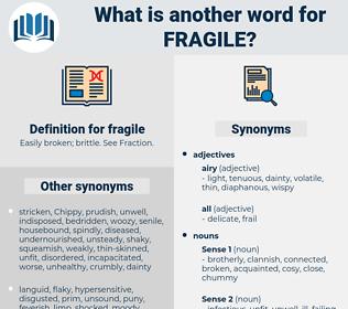 fragile, synonym fragile, another word for fragile, words like fragile, thesaurus fragile