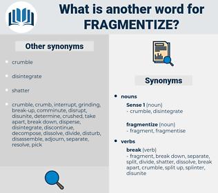 fragmentize, synonym fragmentize, another word for fragmentize, words like fragmentize, thesaurus fragmentize