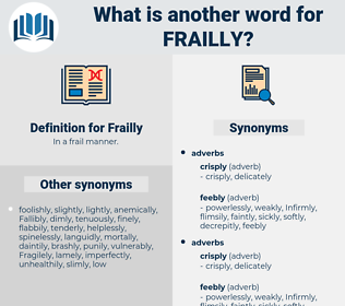 Frailly, synonym Frailly, another word for Frailly, words like Frailly, thesaurus Frailly