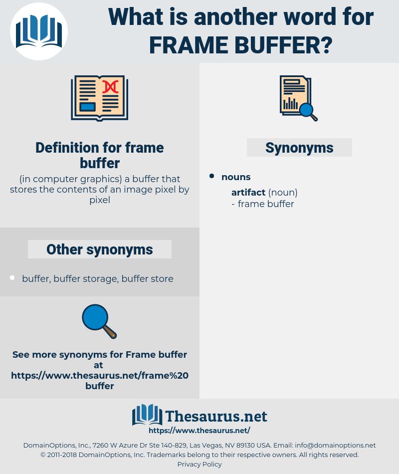 frame buffer, synonym frame buffer, another word for frame buffer, words like frame buffer, thesaurus frame buffer