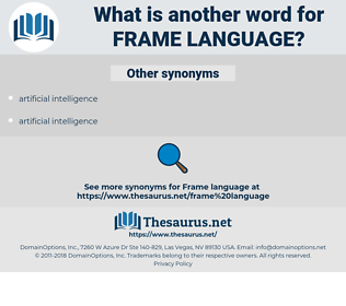 frame language, synonym frame language, another word for frame language, words like frame language, thesaurus frame language