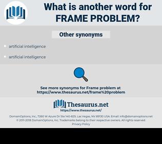 frame problem, synonym frame problem, another word for frame problem, words like frame problem, thesaurus frame problem