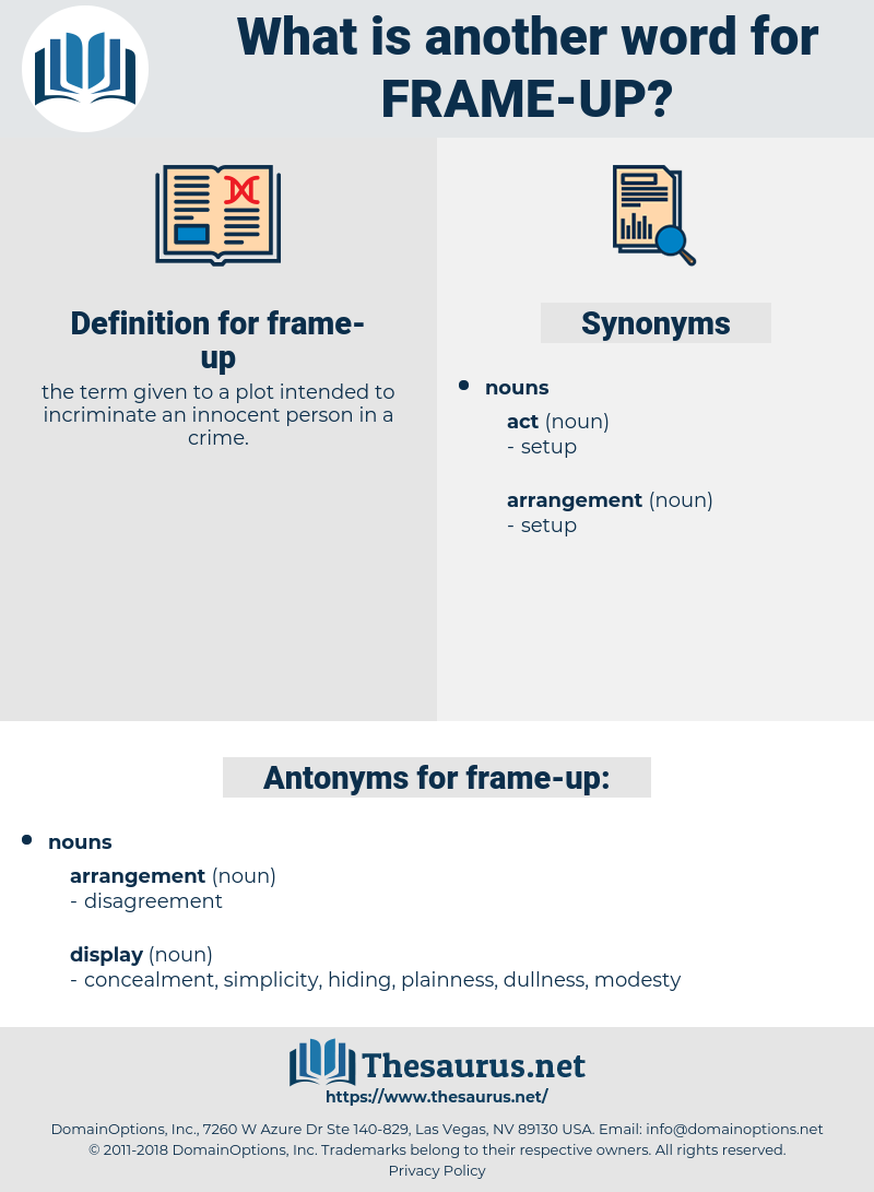 frame up, synonym frame up, another word for frame up, words like frame up, thesaurus frame up