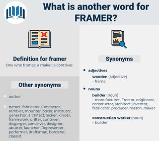 framer, synonym framer, another word for framer, words like framer, thesaurus framer
