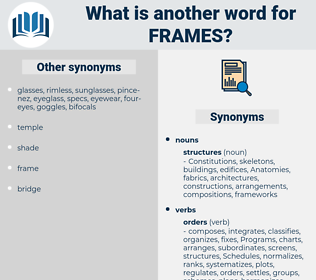 frames, synonym frames, another word for frames, words like frames, thesaurus frames