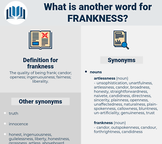 frankness, synonym frankness, another word for frankness, words like frankness, thesaurus frankness