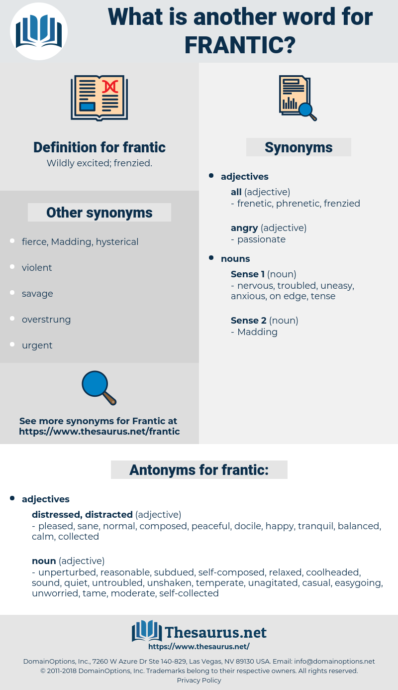 frantic, synonym frantic, another word for frantic, words like frantic, thesaurus frantic