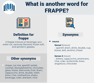 frappe, synonym frappe, another word for frappe, words like frappe, thesaurus frappe