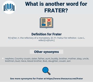 Frater, synonym Frater, another word for Frater, words like Frater, thesaurus Frater