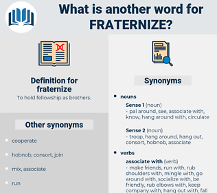 fraternize, synonym fraternize, another word for fraternize, words like fraternize, thesaurus fraternize