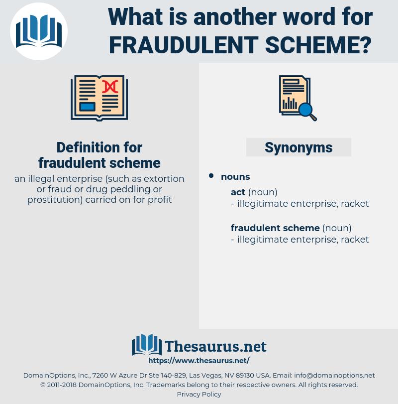 fraudulent scheme, synonym fraudulent scheme, another word for fraudulent scheme, words like fraudulent scheme, thesaurus fraudulent scheme