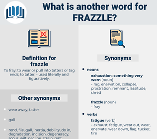 frazzle, synonym frazzle, another word for frazzle, words like frazzle, thesaurus frazzle