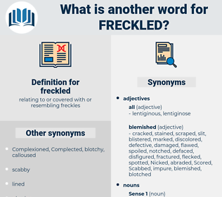 freckled, synonym freckled, another word for freckled, words like freckled, thesaurus freckled