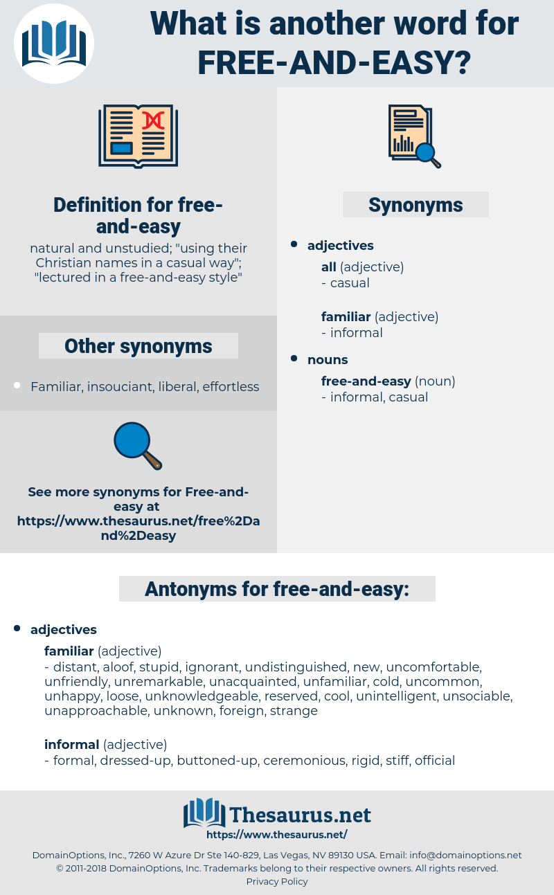 free-and-easy, synonym free-and-easy, another word for free-and-easy, words like free-and-easy, thesaurus free-and-easy