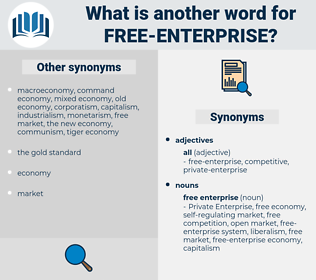 free enterprise, synonym free enterprise, another word for free enterprise, words like free enterprise, thesaurus free enterprise