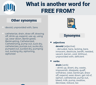 free from, synonym free from, another word for free from, words like free from, thesaurus free from