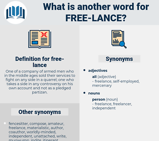 free-lance, synonym free-lance, another word for free-lance, words like free-lance, thesaurus free-lance