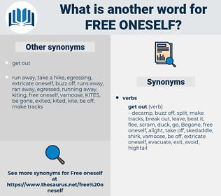 free oneself, synonym free oneself, another word for free oneself, words like free oneself, thesaurus free oneself