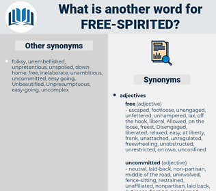 free-spirited, synonym free-spirited, another word for free-spirited, words like free-spirited, thesaurus free-spirited